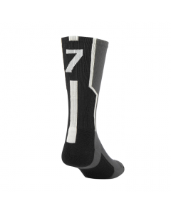 Player ID Number Socks by TCK Graphite-Black-White