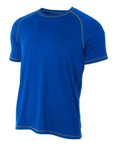 Raglan Shirt with Flatlock Stitching by A4 Sportswear N3275