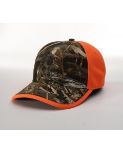 886 Blaze/Camo Front Adjustable Hat by Richardson Caps