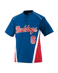 Youth RBI 2-Button Baseball Jersey by Augusta Sportswear Style Number 1526
