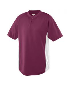 Youth Color Block Performance 2-Button Baseball Jersey by Augusta Sportswear Style Number 539