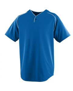 Youth Performance Wicking 1-Button Baseball Jersey by Augusta Sportswear Style Number 555