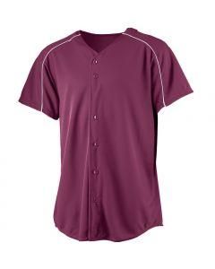 Youth Full Button Performance Wicking Baseball Jersey by Augusta Sportswear Style Number 583