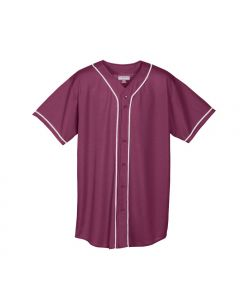 Youth Full Button Wicking Mesh Baseball Jersey by Augusta Sportswear Style Number 594