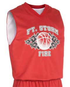 Fadeaway Reversible Youth Basketball Jersey by Teamwork Athletic Style Number 1411