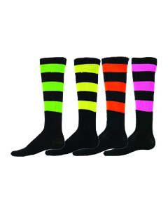 Neon Big Stripe Sock by Red Lion Sports Style Number 7302, 7303