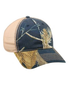 Camo Trucker Mesh Adjustable Hat by OC Sports RTC-350M