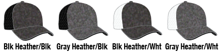 110C Heather TRUCKER MESH SNAP-BACK ADJUSTABLE HAT COLORS BY PACIFIC  HEADWEAR 9d74170f8eb