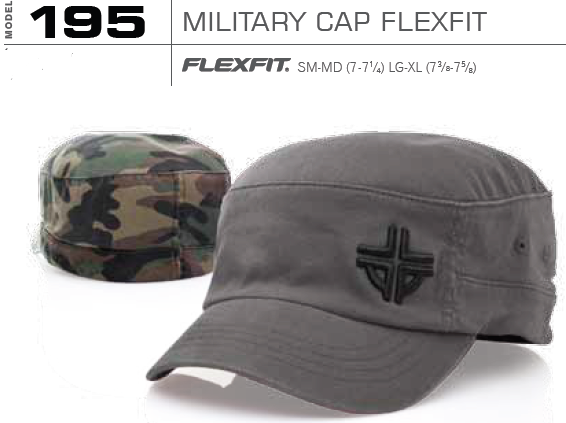 195 Garment Washed Military FlexFit Hat by Richardson Caps