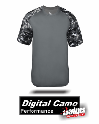 BUY DIGITAL CAMO SPORT SHIRT BY BADGER SPORT. STYLE NUMBER 4152