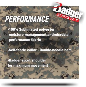 WHERE TO BUY DIGITAL CAMO? Youth B-CORE DIGITAL CAMO PERFORMANCE SHIRT BY BADGER SPORTS STYLE NUMBER: 2180. BUY Youth  DIGITAL CAMO SHIRT AT GRAHAM SPORTING GOODS.STITCH. Stitch option can be used to customize the look of stock garments.B-COOL. Engineered to make fabric breathable, keeping you cool & dry for the life of the garment.B-LOOSE. Garments with extreme performance attributes designed to fit loosely for maximum comfort. WICKING B-DRY. Features wicking technology engineered to pull moisture away from the skin, through the fabric, to keep you cool & dry.ANTI-MICROBIAL.Engineered to supress growth of bacteria in fabic, ensuring odor protection for the life ofthe garment.Product Information:100% Sublimated polyester moisture management/antimicrobial performance fabric.Badger sport shoulder for maximum movement.Self-fabric collar - Double-needle hem.Badger heat seal logo on left sleeve.ANY QUESTIONS OR YOU WOULD LIKE TO ORDER BY EMAILING ALEX AT ALEX@GRAHAMSPORTINGGOODSNC.COM. COLOR OPTIONS ARE White/Digital Royal/Digital Red/Digital Pink/Digital Lime/Digital Forest/Digital Product Information 100% Sublimated polyester moisture management/ antimicrobial performance fabric Badger sport shoulder for maximum movement Self-fabric collar - Double-needle hem Badger heat seal logo on left sleeve.