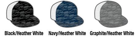 4f36a15c8057b 4D6 Aggressive Heather Trucker Mesh by Pacific Headwear