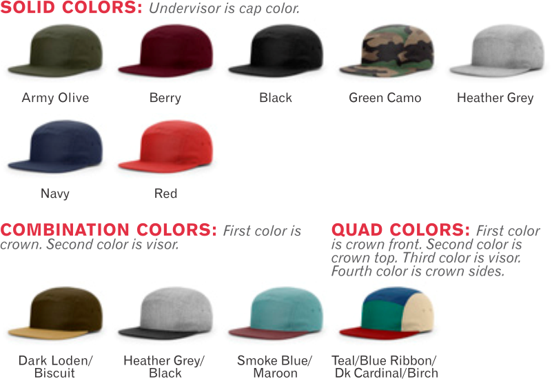 cdb0c7a7cff 917 5 Panel Strapback Adjustable Hat by Richardson Cap Shape  5 Panel  Structured - Fabric