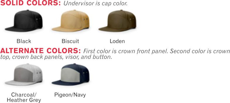 957 7 Panel Twill Strapback Adjustable Hat by Richardson Cap Shape  Hi-Pro - 33d92f1fcf46