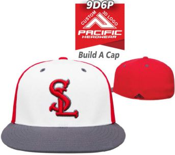 Buy 9D6P Fitted Custom Hat with 3D Custom Logo by Pacific Headwear ... 38491b6247c