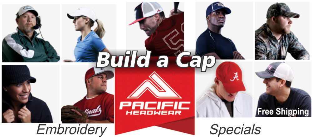 Build A Cap Pacific Headwear Embroidery Specials Graham