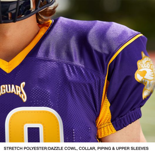 ed5151fb8 FJ19 fEATURES BY CHAMPRO SPORTS. MARKER STRETCH POLYESTER DAZZLE JERSEY  Jersey is entirely of stretch