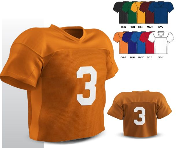 7766e801d62 FLJ3 TRIBAL FOOTBALL/LACROSSE JERSEY FEATURES Dazzle polyester cowl & side  panels Polyester tricot mesh