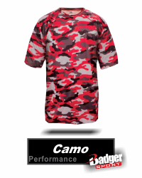 BUY CAMO PERFORMANCE BASEBALL JERSEY BY BADGER SPORT STYLE NUMBER 4181. BUY DIGITAL CAMO LONG SLEEVE TEE 4184 BY BADGER SPORT GRAHAM SPORTING GOODS