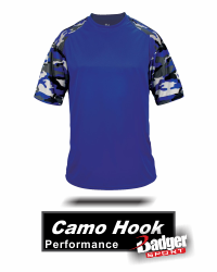 BUY CAMO BASEBALL JERSEY 4141. CAMO PERFORMANCE JERSEY. CAMO SHIRT. BY BADGER SPORT STYLE NUMBER 4181. Shipping: Orders will Ship same business day if purchased before 1:00pm EST (Monday-Friday). If you purchase after this time your order will ship next business day. Excluding holidays. Tracking Numbers will be emailed the business day after your order ships. (tracking numbers are sent to the email you provide at checkout). If you Buy and the item or part of your order is out of stock we will email you the same business day to the email provided at checkout. We will email options to help and let you know when new inventory is expected in. (we try to update inventory levels daily). WHERE TO BUY PERFORMANCE CAMO SHIRTS? Buy Camo by BADGER SPORT AT GRAHAM SPORTING GOODS. 100% Sublimated polyester moisture management/ antimicrobial performance fabric. Badger sport paneled shoulder for maximum movement. Self-fabric collar - Double-needle hem with tack. Badger heat seal logo on left sleeve.
