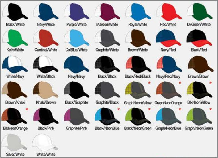 104C Available Colors  Black Black - Black Graphite - Black Neon Orange.  PACIFIC HEADWEAR SIZE CHART FOR CUSTOM HATS 4a465078ac9