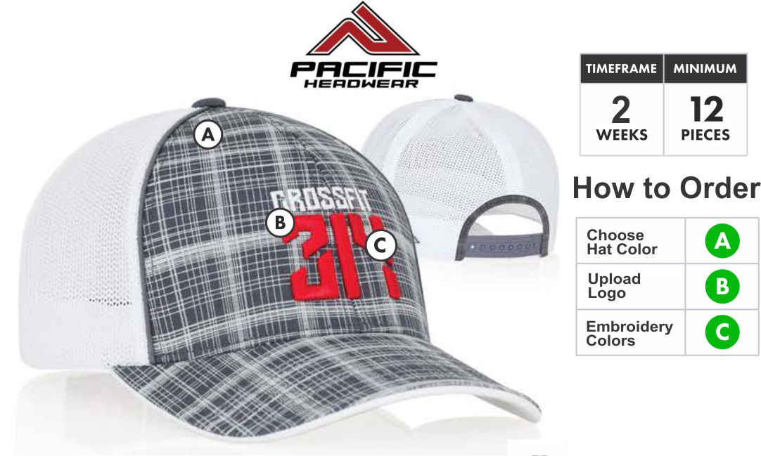 6519f2e8043 111C Crosshatch Trucker Hat Snap-Back Adjustable 111C Description  Profile Material  Pro-