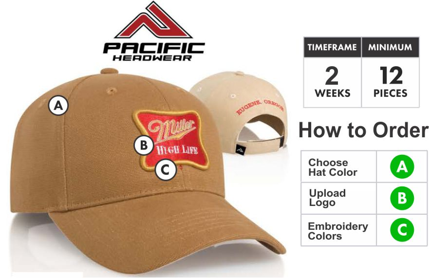 6a20d128964 191C Cotton Heavy Weight Duck Embroidery Special 191C Hat - Custom 3D  Embroidery Front - One