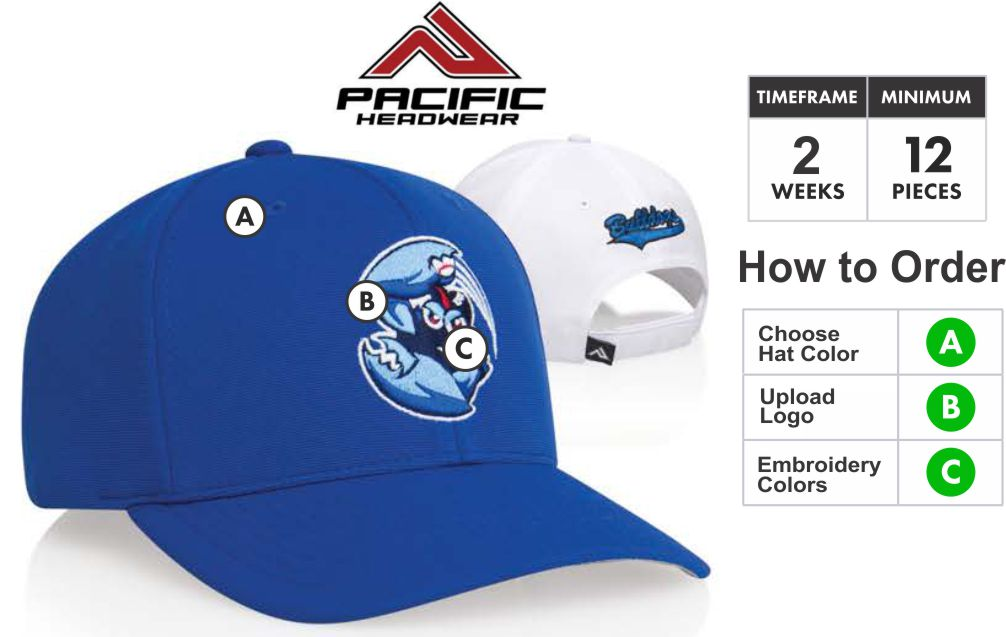 5f6a8d970f138 298M Performance Adjustable Hat with 3D Embroidery Front by Pacific Headwear.  298M M2 Performance Embroidery Specials Profile Material  Low profile shape  ...
