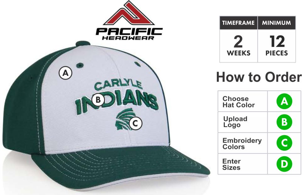 4e7792c1b 398F M2 Performance Universal Fitted Contrast Hat with 3D Custom Embroidery  by Pacific Headwear FREE SHIPPING