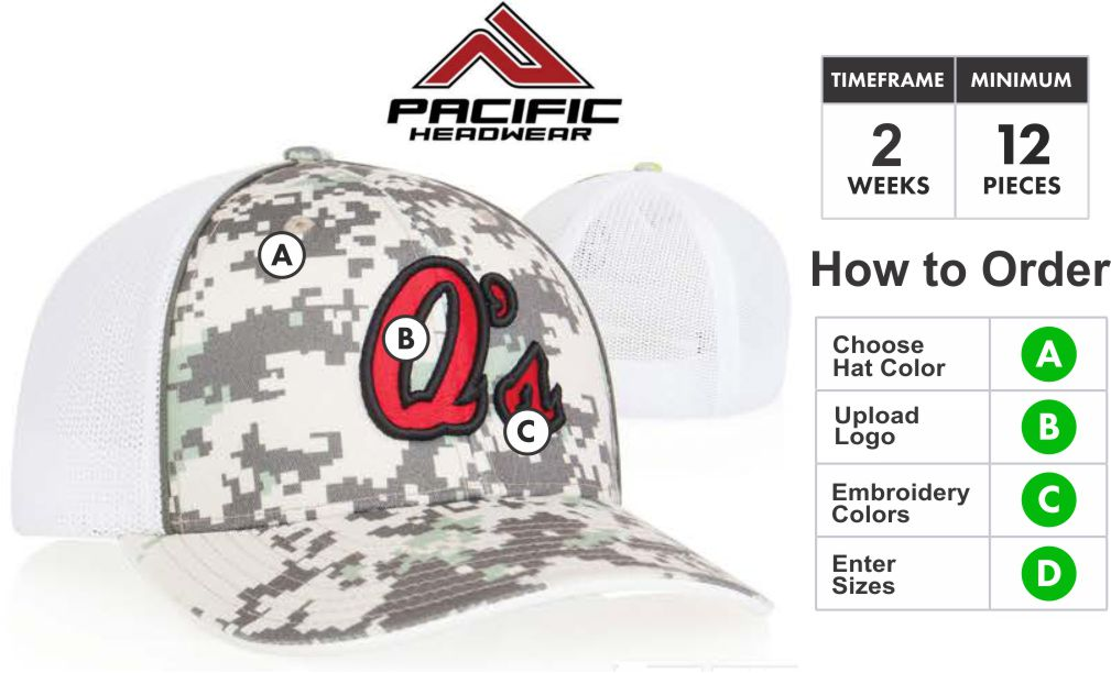 d5511432944 408M Digital Camo Trucker Mesh Hat with 3D Embroidery Front by Pacific  Headwear. 408M Embroidery Special About the 408M   Embroidery Colors ...