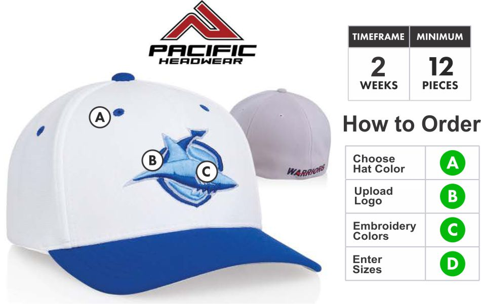 498F M2 Performance Universal Fitted Hat with 3D Custom Embroidery by  Pacific Headwear FREE SHIPPING