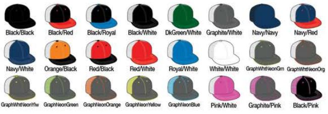 40742109 Available Colors: Black/Black - Black/Pink - Black/Red - Black. PACIFIC  HEADWEAR SIZE CHART FOR CUSTOM HATS