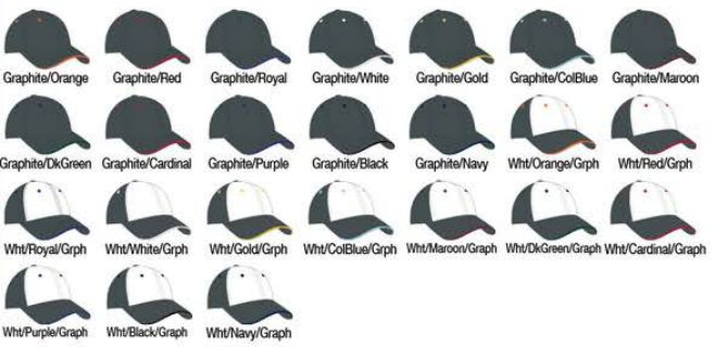 bf8c97015acd9 Available Colors  Graphite Black - Graphite Cardinal - Graphite Columbia  Blue -. PACIFIC HEADWEAR SIZE CHART FOR CUSTOM HATS