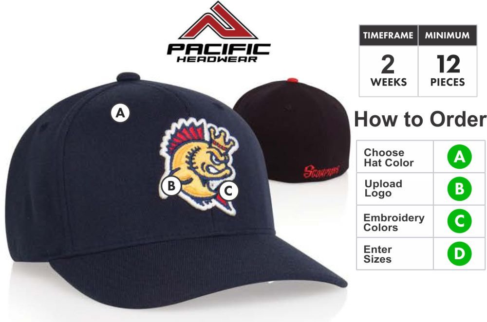 801F Pro Wool Hat Embroidery Special 801F Hat - Custom 3D Embroidery Front  - One Price 4270d491355