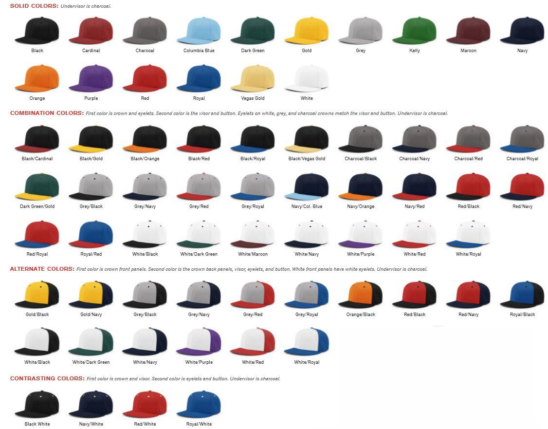 54a2054718ba2 RICHARDSON PTS40 COLORS  Solid Color Caps  Black - Red - Royal - Navy -