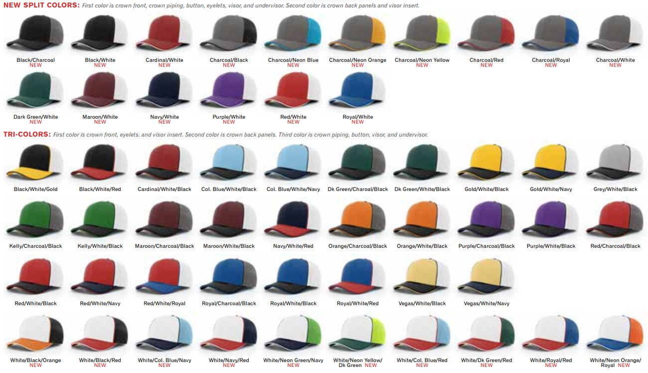 172 Sports Trucker Mesh with Piping Hat Pulse by Richardson Caps 51d61ea65d8