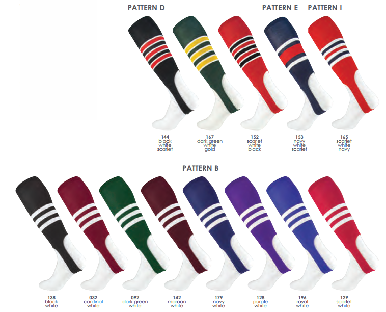 """4eb747926b5 Striped. Baseball Stirrups. Color Options. STOCK STIRRUP PATTERNS ADULT  STYLE STIRRUP LENGTH 300 7"""" 19"""" FEATURES •double-"""