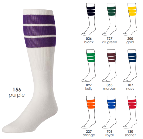Grab a pair of tube socks featuring your team's colors or some striped socks that feature your favorite colors. We even have some graphic socks featuring your favorite symbols like a pot leaf and shamrocks, if you really want to go all out with your outfit.